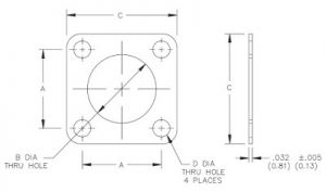 MIL-DTL-83528_4, Connector Gasket, Geometry