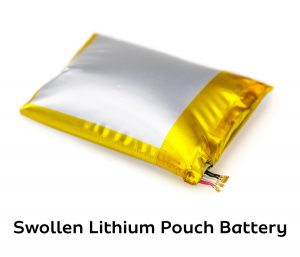 Swollen Lithium Pouch Battery