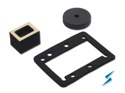 Expanded Silicone, Neoprene and Urethane (PORON) gaskets and pads