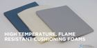 HT-800 flame rated silicone foam for turnout gear