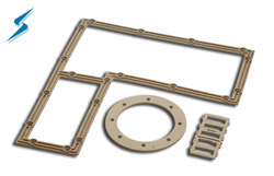 Silver Plated Aluminum Filled Silicone EMI Shielding Gaskets