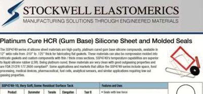 SE208T SSP4749 / Platinum Cured HCR Silicone Touch Brochure blog feature
