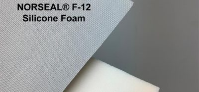 Sample swatches of BISCO BF-1000 and NORSEAL F-12