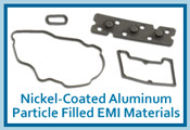 Nickel-Coated with Aluminum Particle Filled Silicone EMI Shielding Gasket Material