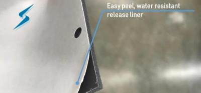 Gasket with easy peel, water resistant release liner (thumbnail_