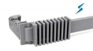 Liquid injection molded part close-up