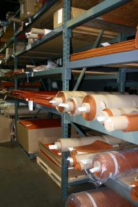 Material inventory at Stockwell Elastomerics