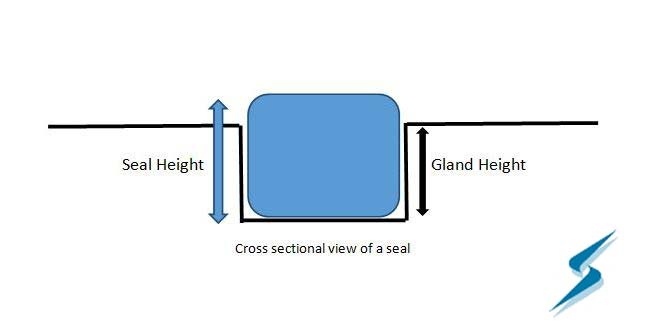 Cross-sectional view of a seal