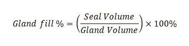 Seal gland fill calculation