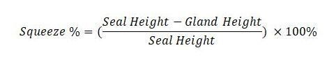 Seal squeeze percentage calculation