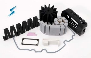 Silicone foam, LSR liquid injection molded seals and cushioning pads