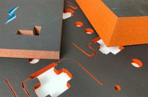 Silicone Sponge with T62 ESD Conductive Coating