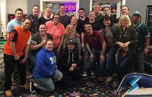 Stockwell Elastomerics bowling party photo