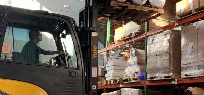 Inventory in Stockwell Elastomerics warehouse