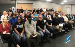 Stockwell Elastomerics company meeting photo