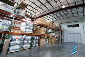 Inventory in Stockwell Elastomerics warehouse